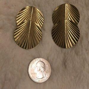 Vintage 80s Goldtone Pierced Earrings